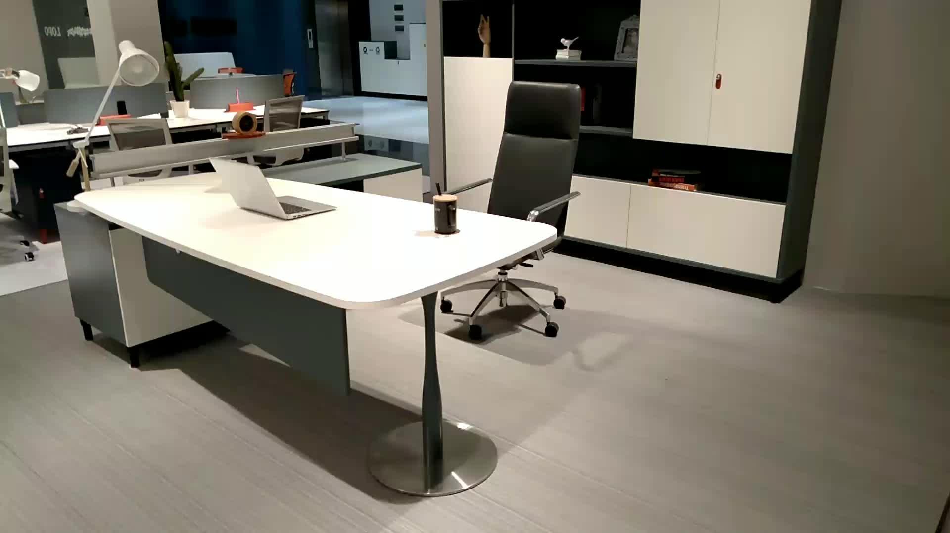 กวางโจว foshan modern executive office โต๊ะโมเดิร์น presidential office furniture โต๊ะจากประเทศจีน lecong ตลาด ZZ01