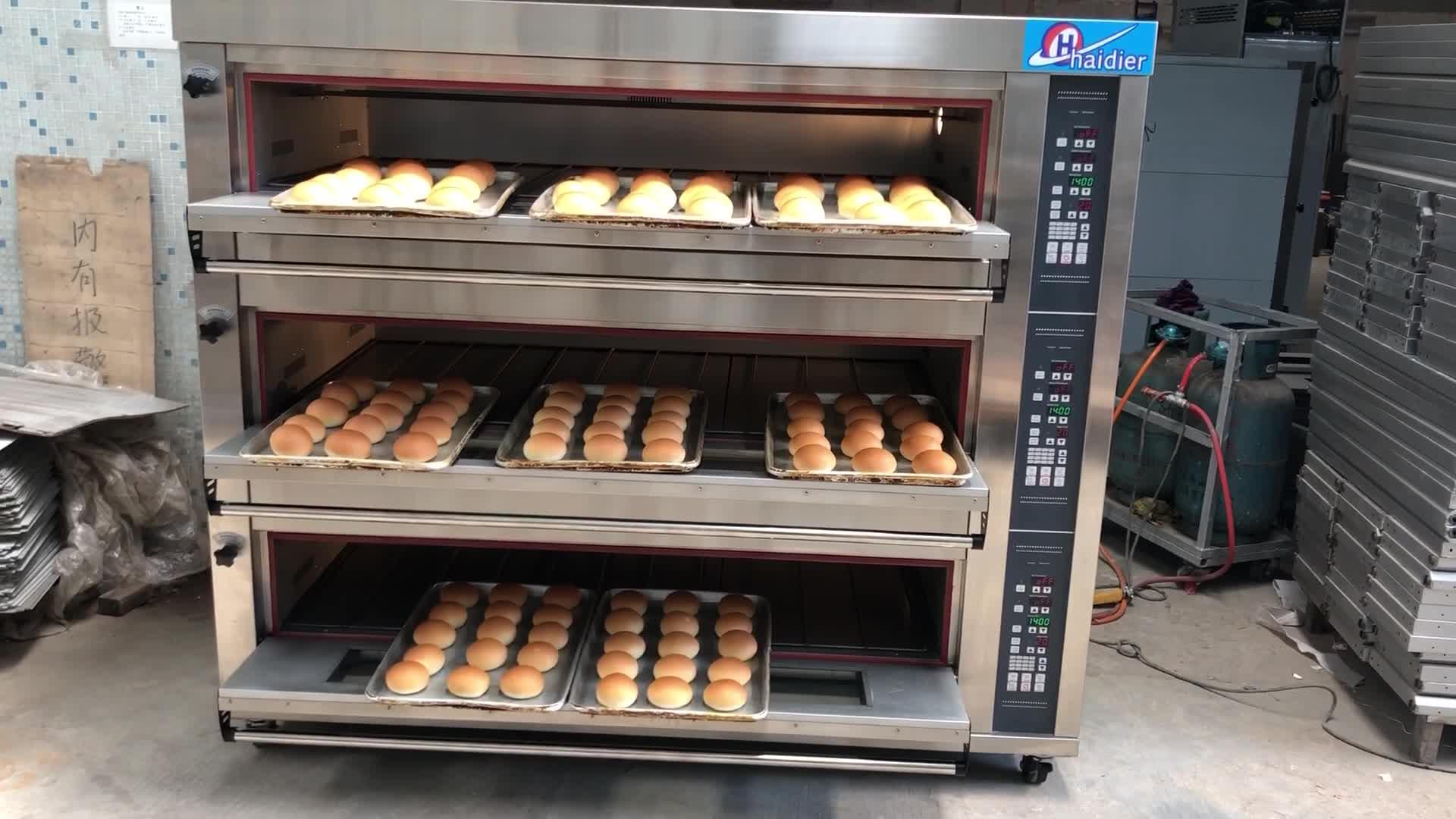 Haidier fırın ekipmanları 3 güverte fırın/Pizza ekmek pişirme küçük taşınabilir fırın/elektrikli 6 tepsiler güverte fırın