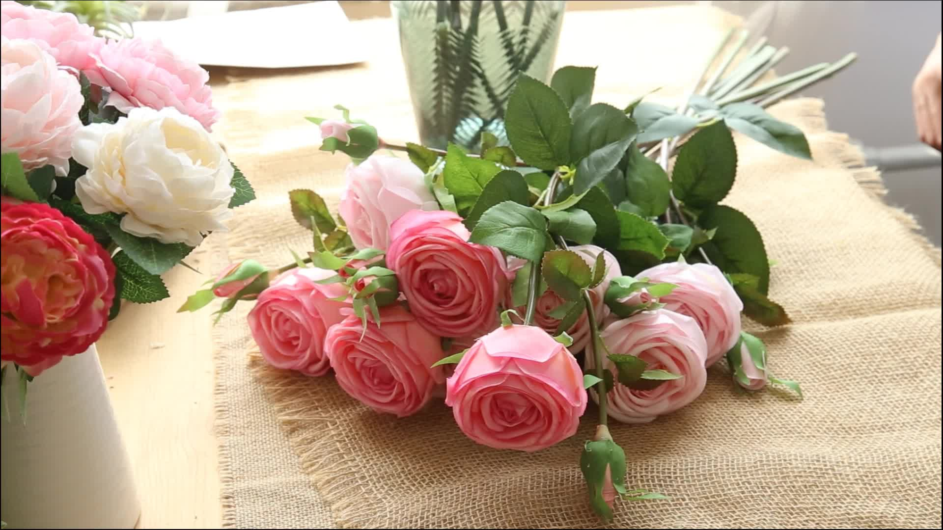 Natural Touch Passion Artificial Floral Flowers Preserved Long Stem Red Roses