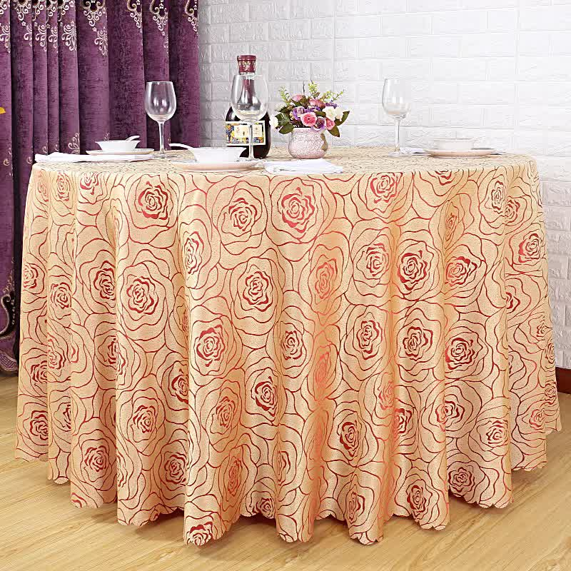high quality factory price gold wedding tablecloth wholesale