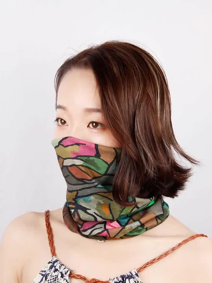 Promotional Polyester Sublimation Printing Custom Ski Masks Head Tube Bandanas With Logo