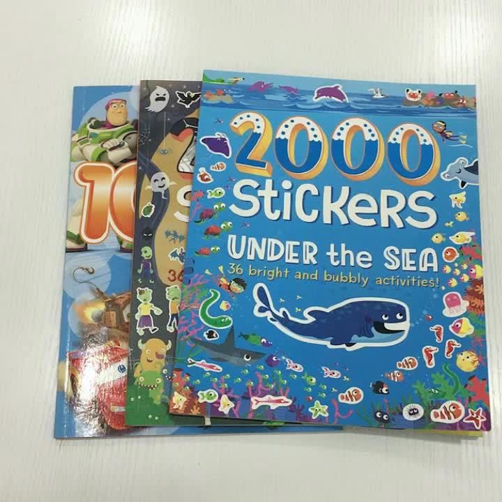 Impressão de papel para colorir crianças impressão de livros de etiqueta Impressão de livros de educação infantil