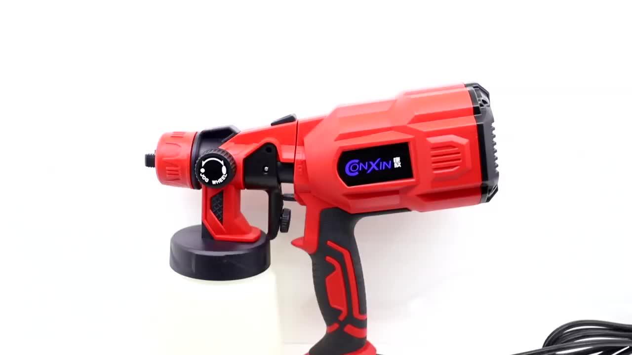 Hot Sale 550W Portable HVLP Car Electric Painting Spray Gun