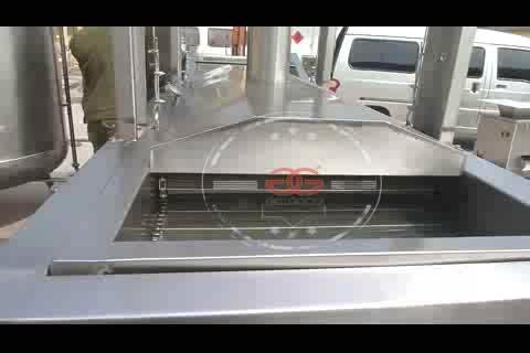 GG-ZLD4000 Automatische Lebensmittel Kontinuierliche Huhn Braten Maschine Für Schweinefleisch Haut