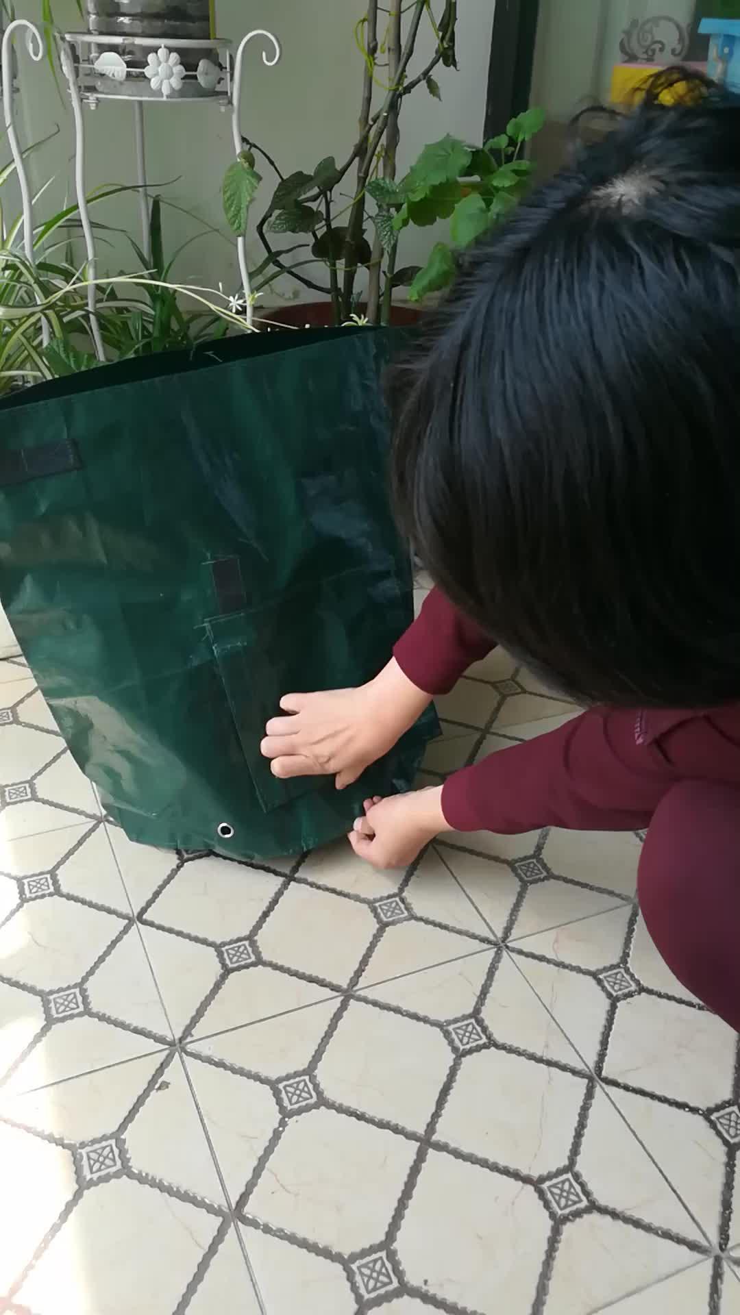 Đường kính 35 cm/Chiều Cao 45 cm 10 Gallon 40L Vườn Khoai Tây Planter Phát Triển Túi Xách, Grow Bag Nhựa Vườn Túi rác