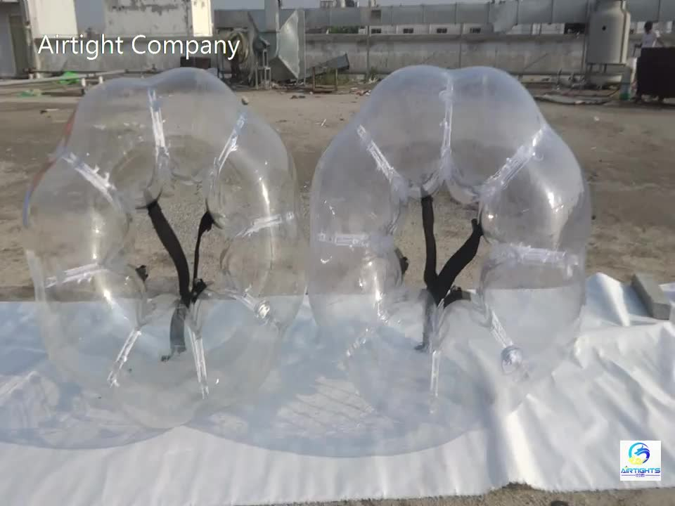 Pure TPU bubble football good quality inflatable human sized soccer zorb ball for adult