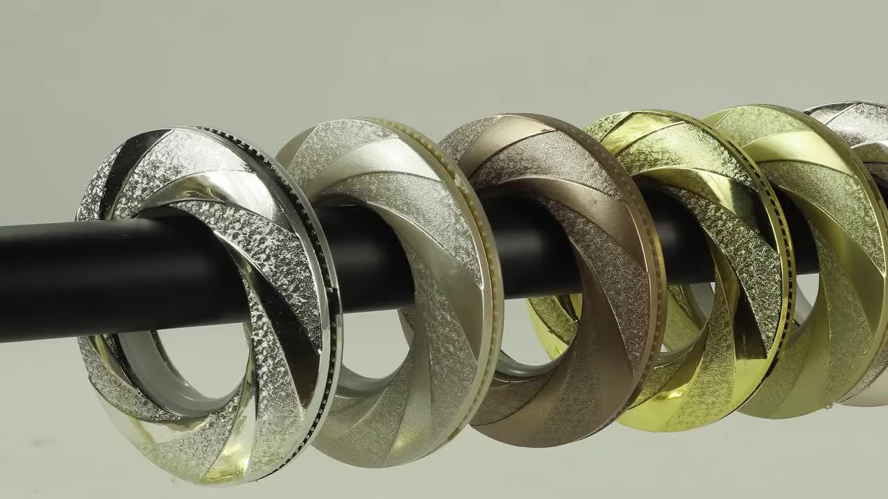 KYOK cortina blanca cinta anillo Simeple diseño personalizado cortina anillo 80 Mm de plástico anillo de ojal para cortina M913
