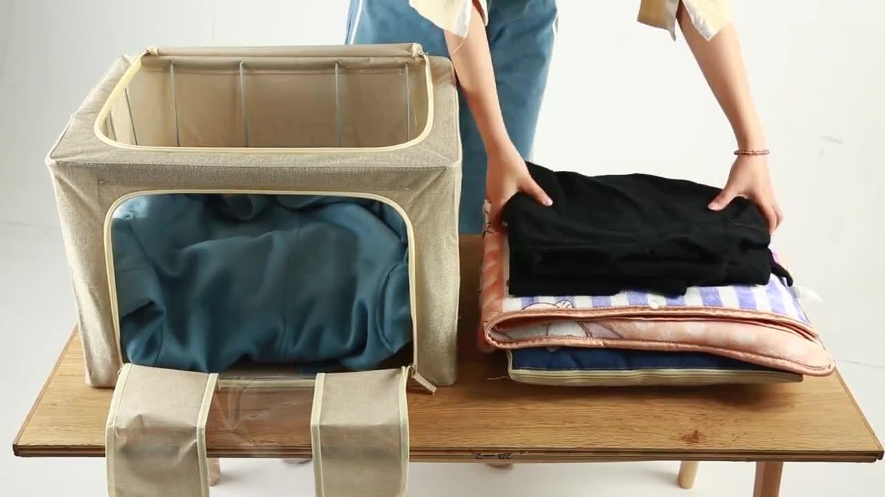 環境に優しいホットスタイルの正方形の雑貨折りたたみ下着収納ボックス、生地オックスフォード収納ボックス