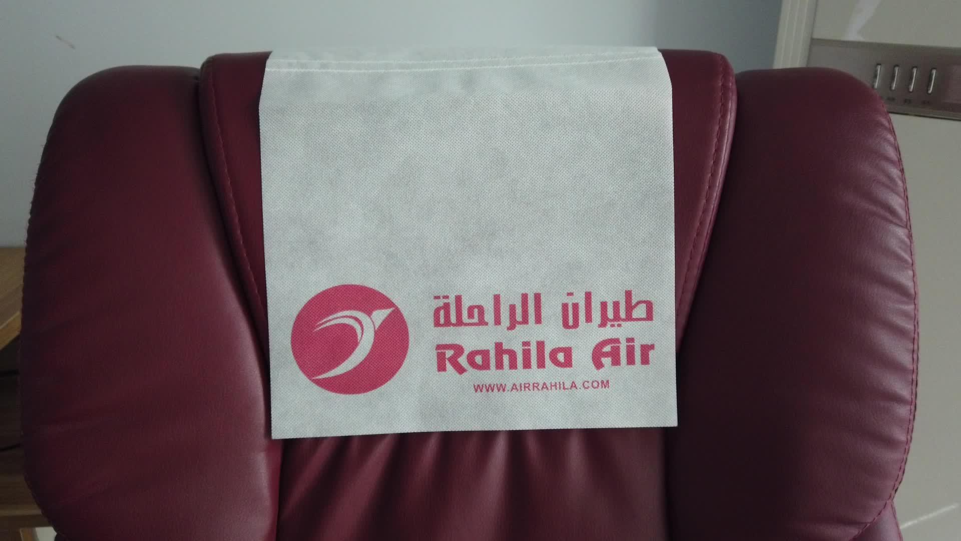 Custom pp non woven air plane pillowcase/Nonwoven disposable headrest cover/ECO spun bonded nonwoven