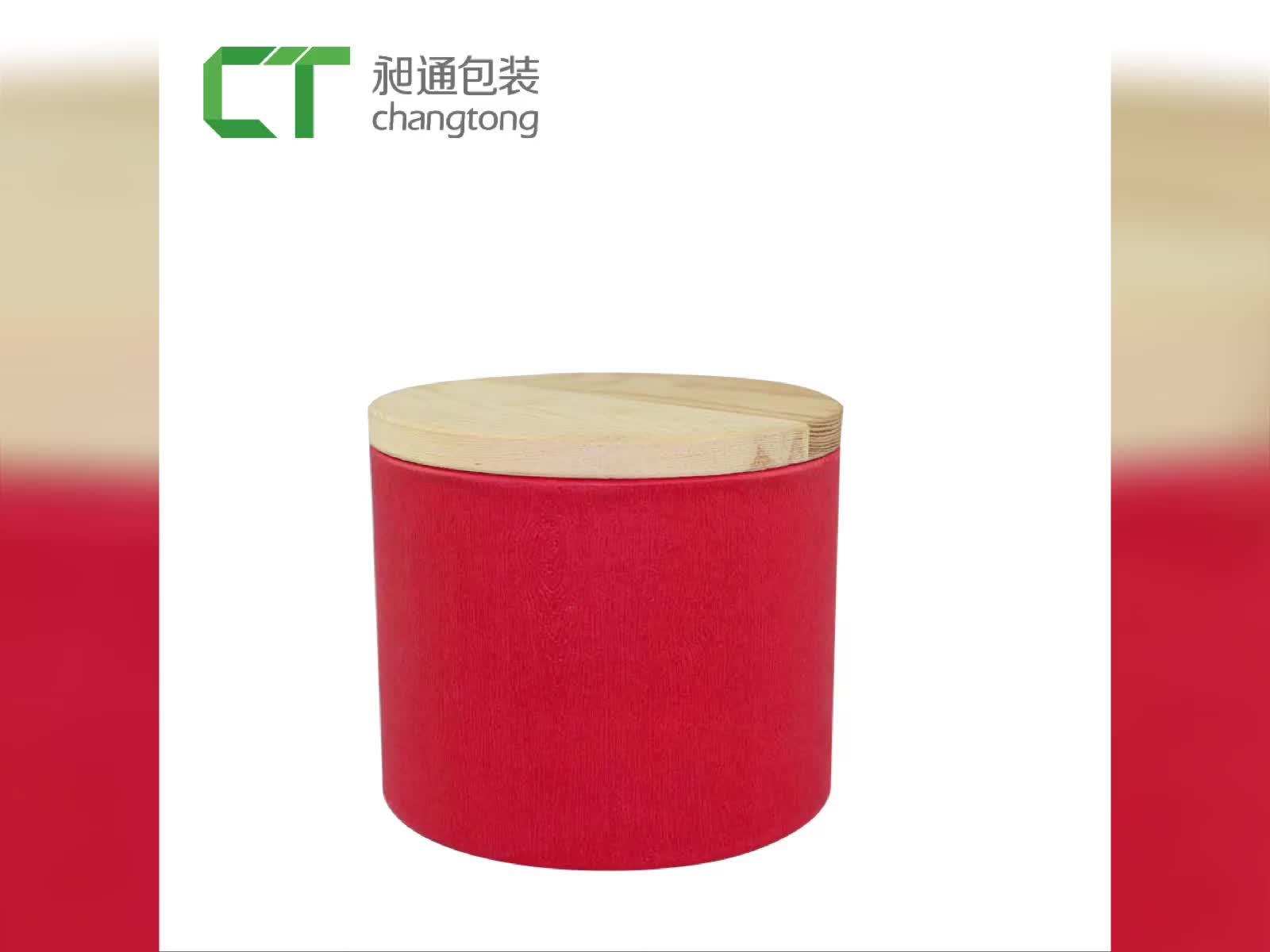 थोक उत्पादों को चीन लाल छोटे चाय कागज सिलेंडर पैकेजिंग बॉक्स