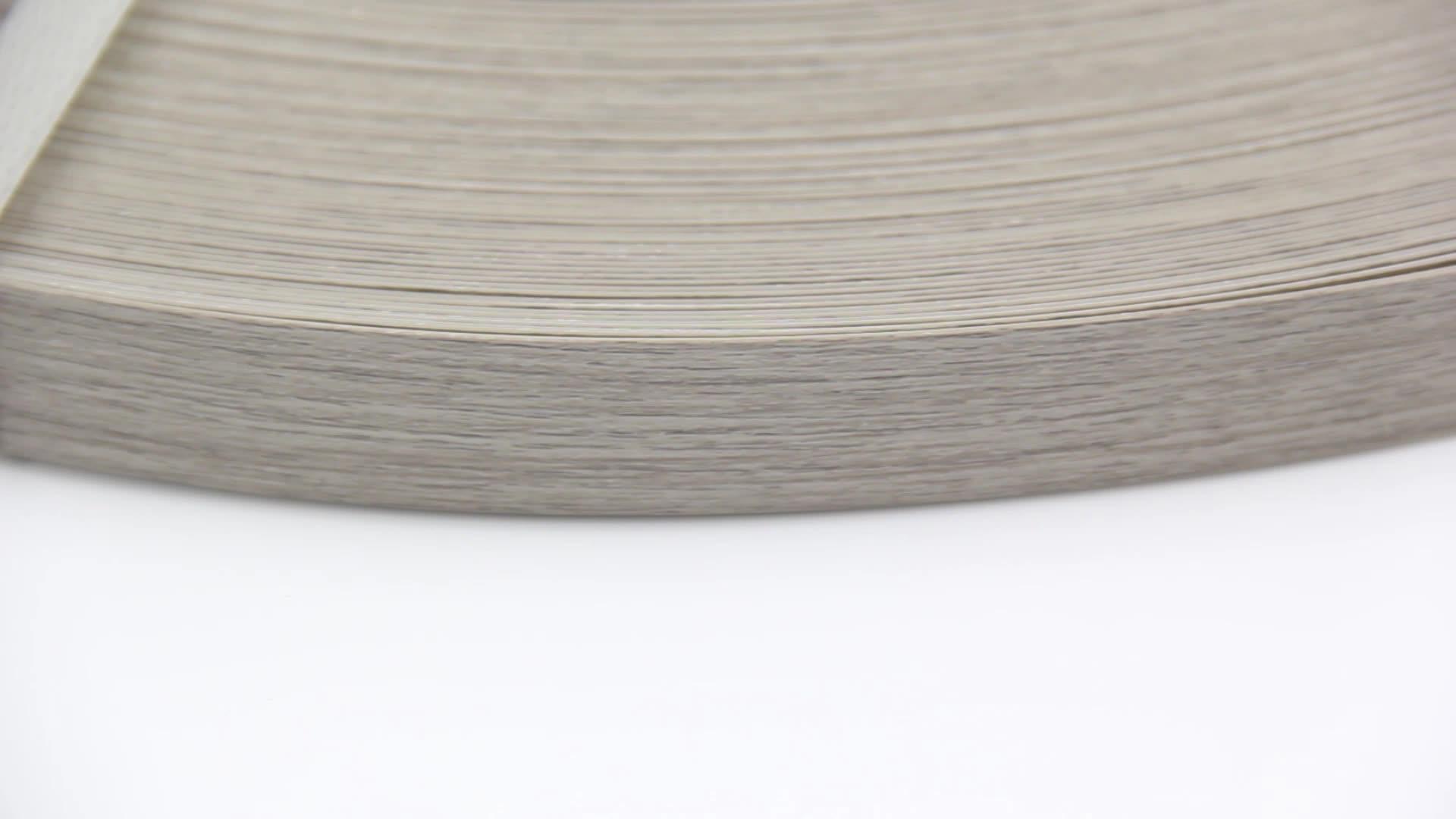Fábrica de alta Qualidade Armário de Cozinha Cor De Madeira Da Grão borda a Borda de Plástico Pvc Flexível