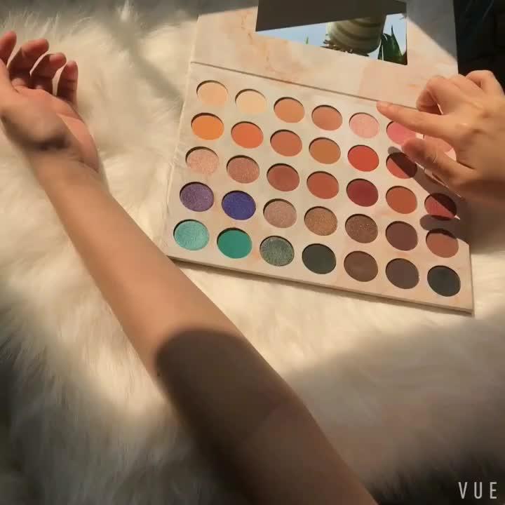 Toptan yüksek pigment karton 35 renk özel etiket göz farı paleti
