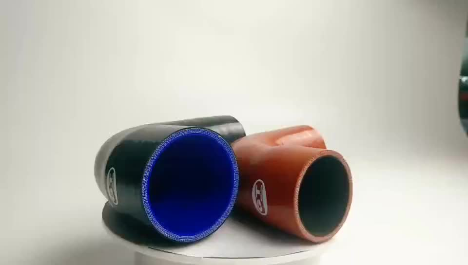 "ID=102-70mm(4 ""- 2.75"" inch), 5 ply polyester reinforced, Leg length=145mm(5.7 inch), Reducing elbow 90 degree silicone hose"