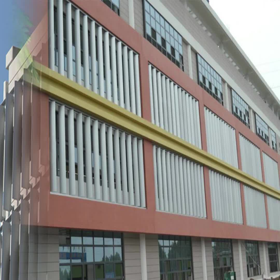 Vaste exterieur gemotoriseerde verstelbare aluminium louvre panel