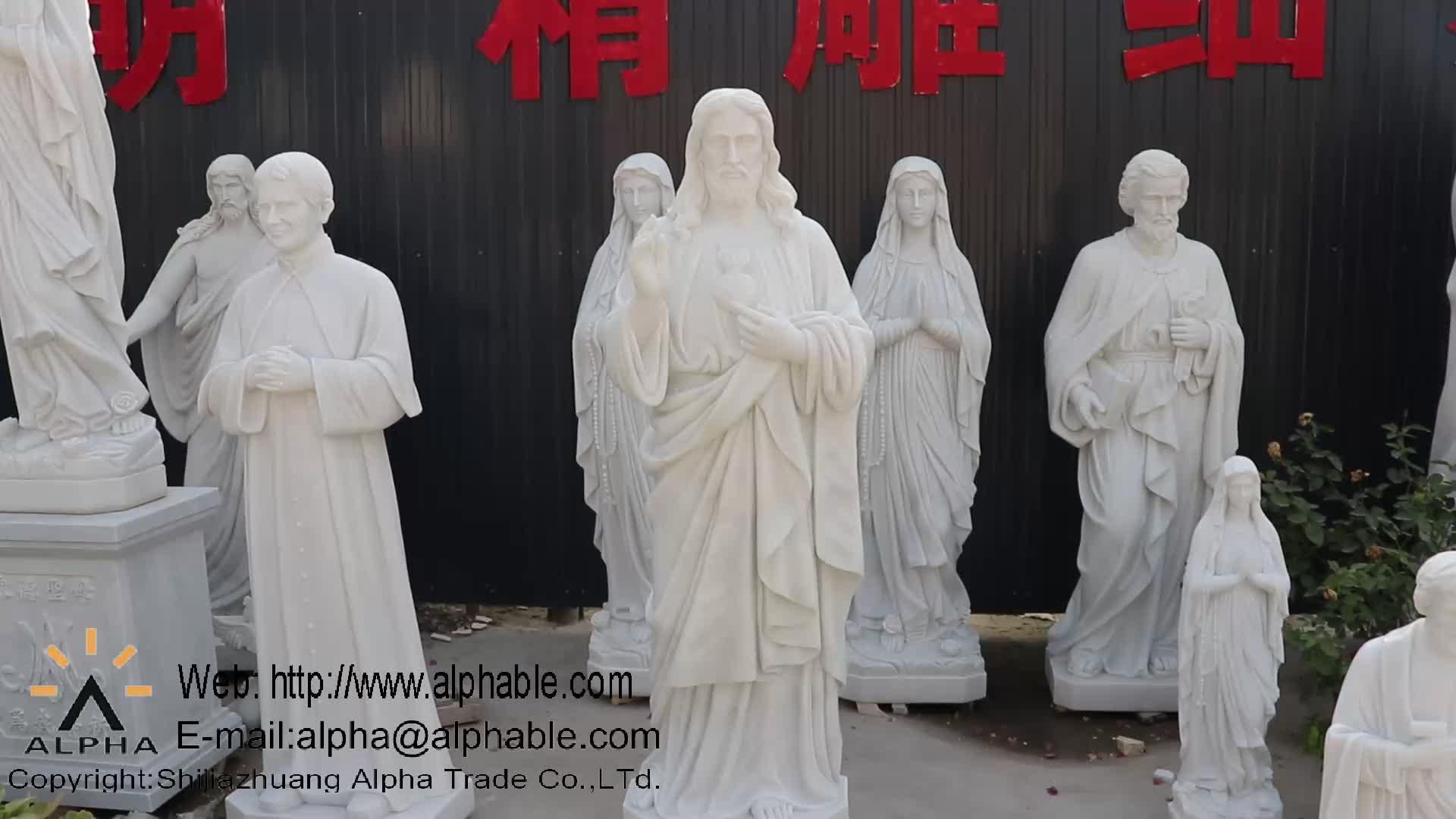Wit Marmer Levensgrote Weeping Angel Tuin Standbeeld