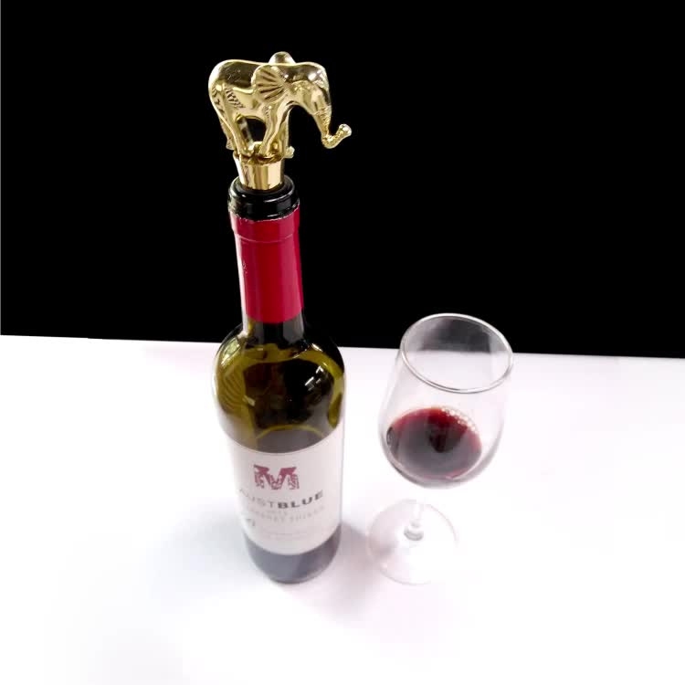 Promotional items top quality custom engraved logo golden wine stopper