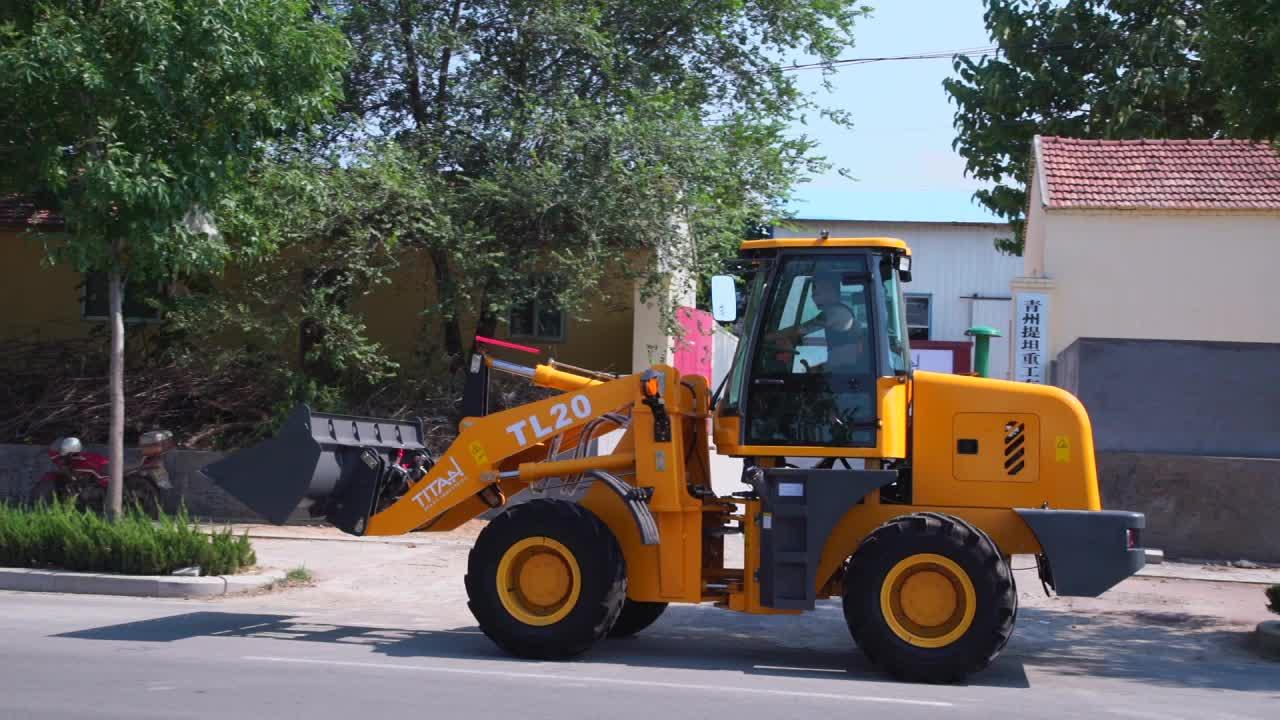 China merk Zl20 2.0 ton Mini/Kleine gelede hydraulische front end Wiellader radlader voor verkoop