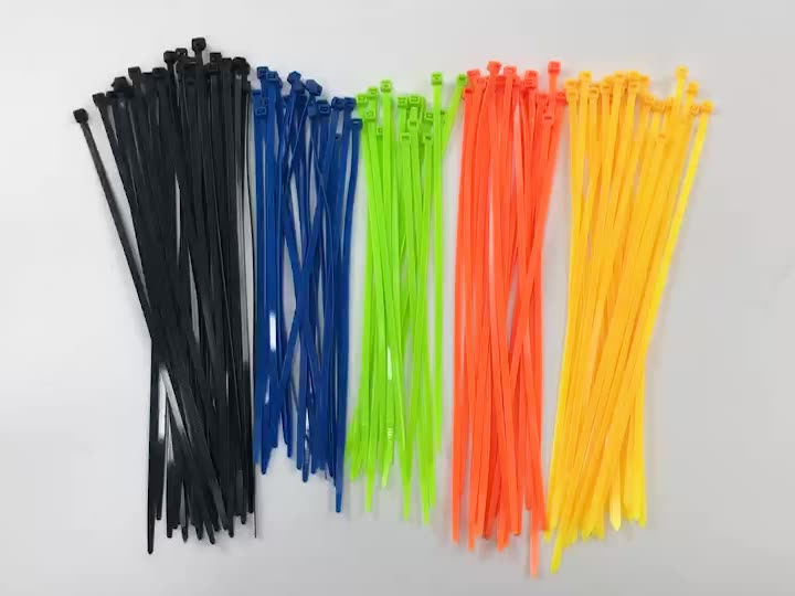 100 Pieces 4*500mm Professional Factory China Manufacturer Custom Industrial Plastic Nylon 66 Heavy Duty Black Cable Ties