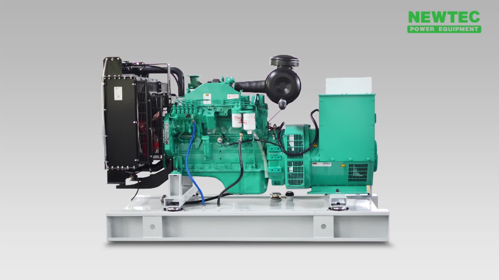 50HZ 60HZ Denyo générateur de puissance Silencieux 100kva générateur diesel alimenté par Cummins 6BT5.9-G2 moteur
