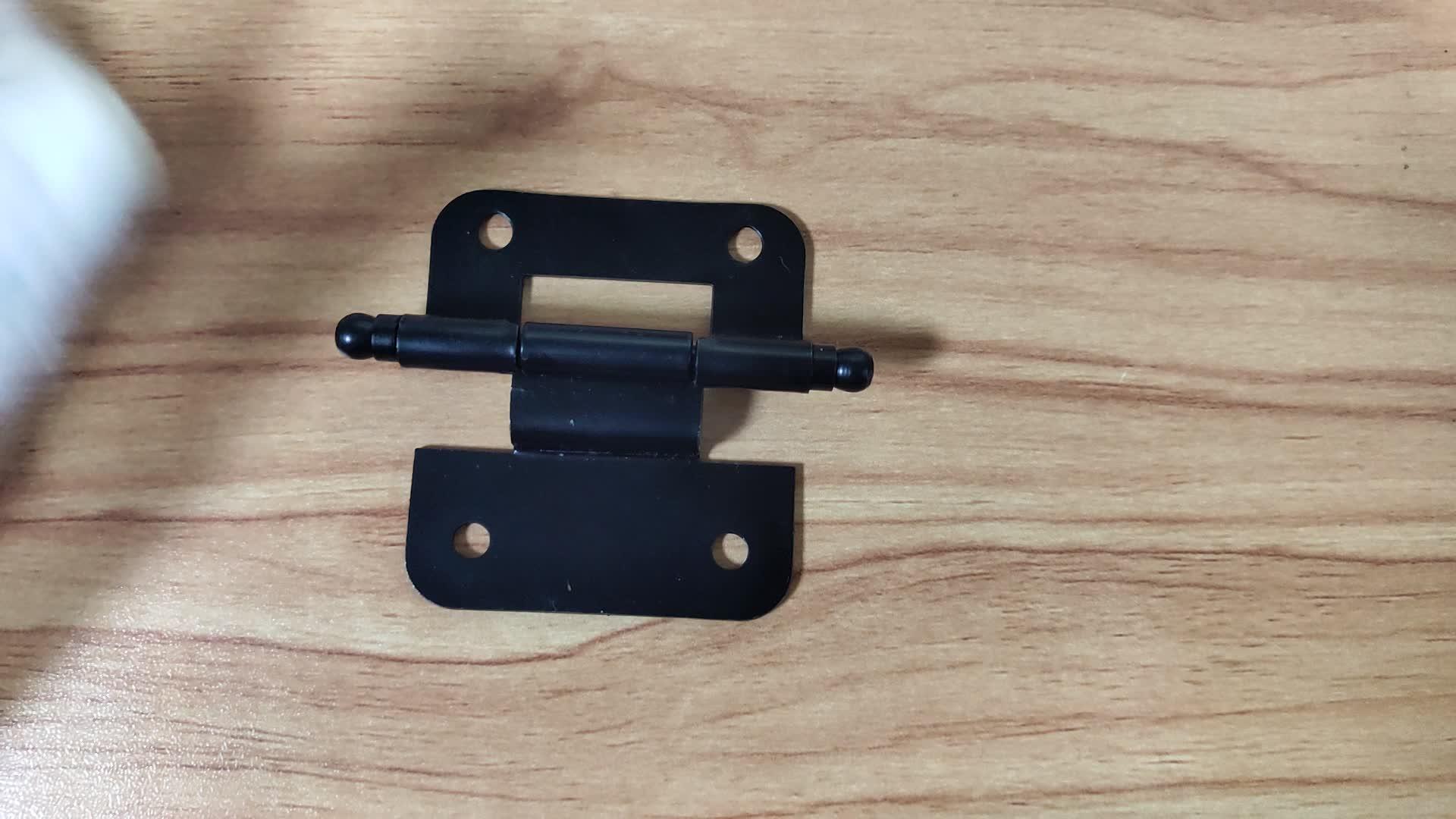 Мебельные петли черный коленчатый не врезной шарнир для двери