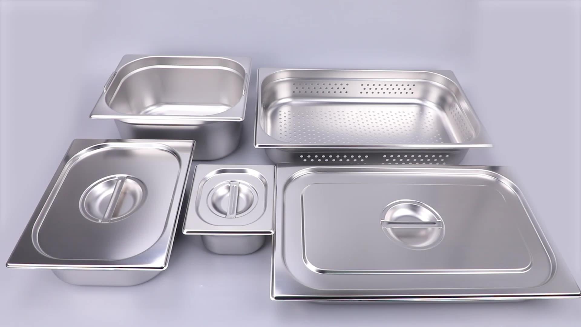 NSF onaylı GN Pan paslanmaz çelik mutfak ekipmanları