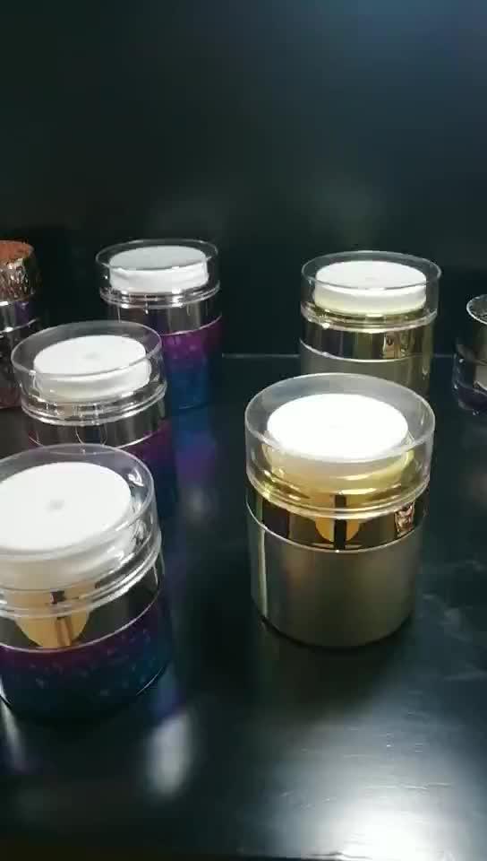 15 Ml 30 Ml 50 Ml Goud Plastic Cosmetische Airless Pomp Zalfpotje