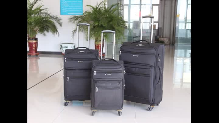 Alibaba Cheap Aluminum Trolley Fabric Spinner Carry on Luggage Bags