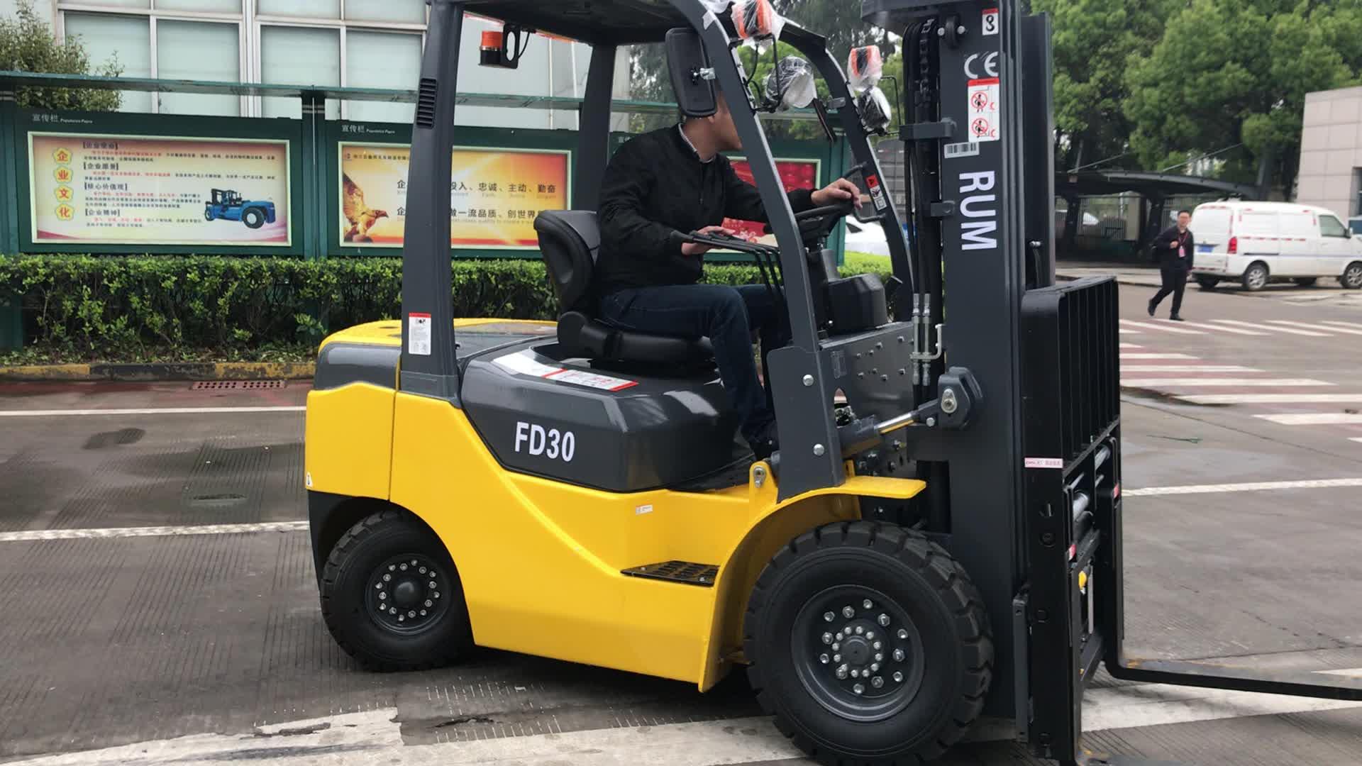 3.0ton 디젤 지게차 자동 변속기 트럭