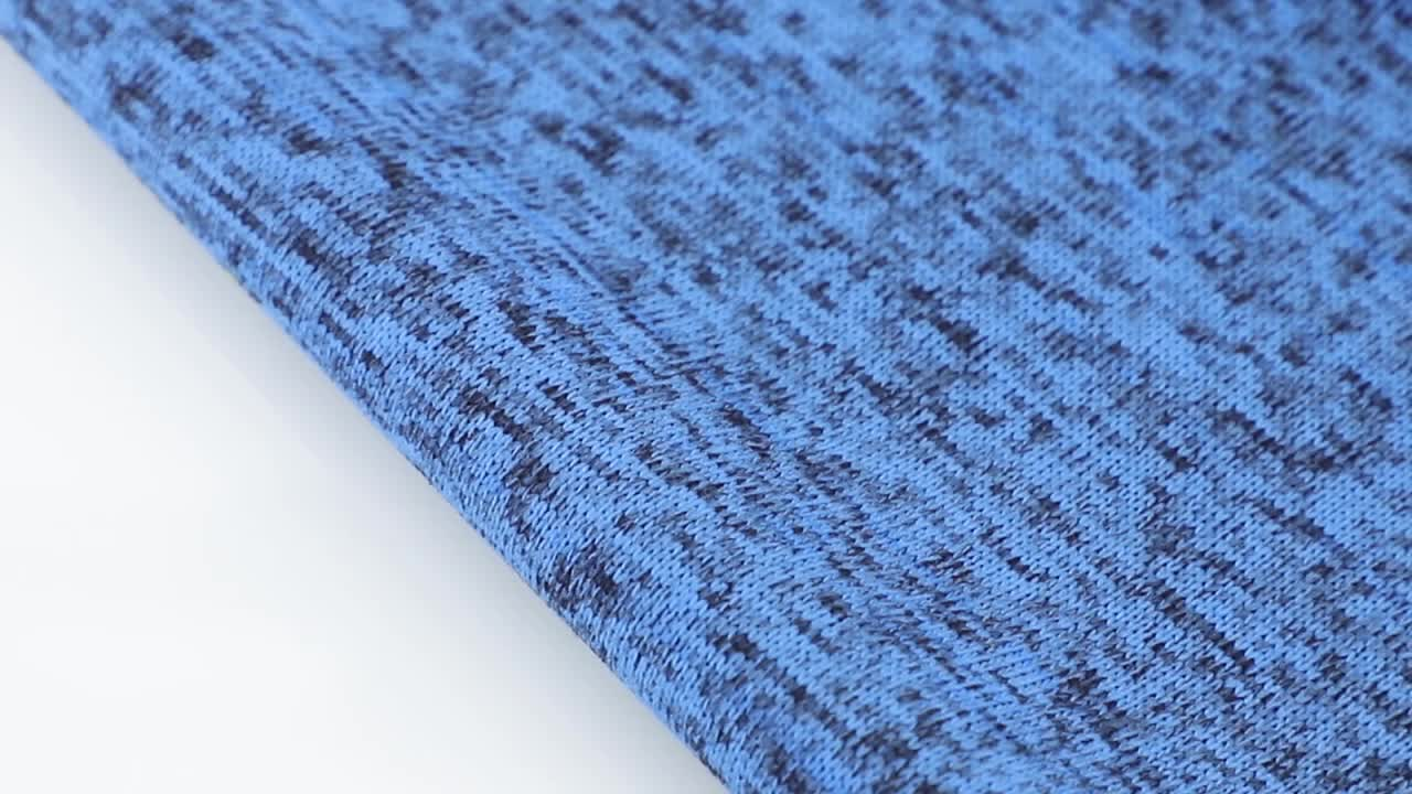 High Quality 240gsm 100% Polyester Cationic Dye Hacci Knit Sweater Fleece Fabric