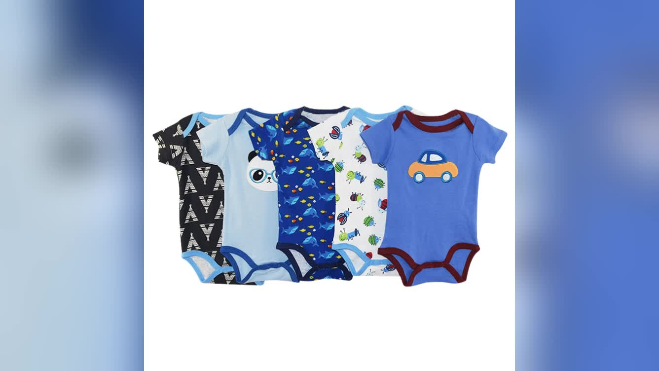 Wholesale 5 pack baby girls jumpsuit bodysuit baby outfits adorable baby girl's clothes rompers