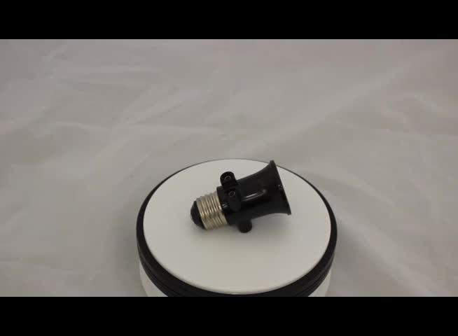 (YK727) روسيا E27 أسود حامل مصباح الباكليت محول