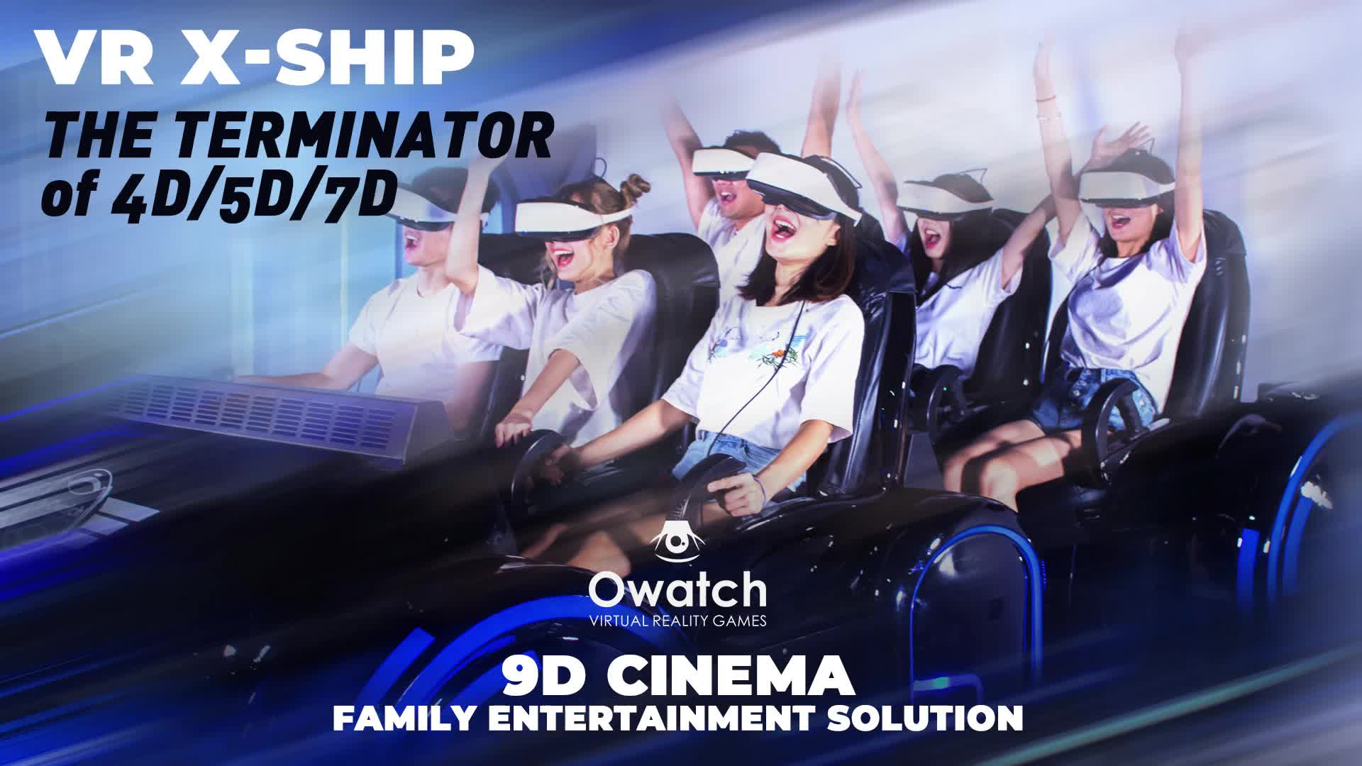 HD 9d VR Movies Digital Family Home Theater VR Equipment 6 Seat VR Simulator Chair