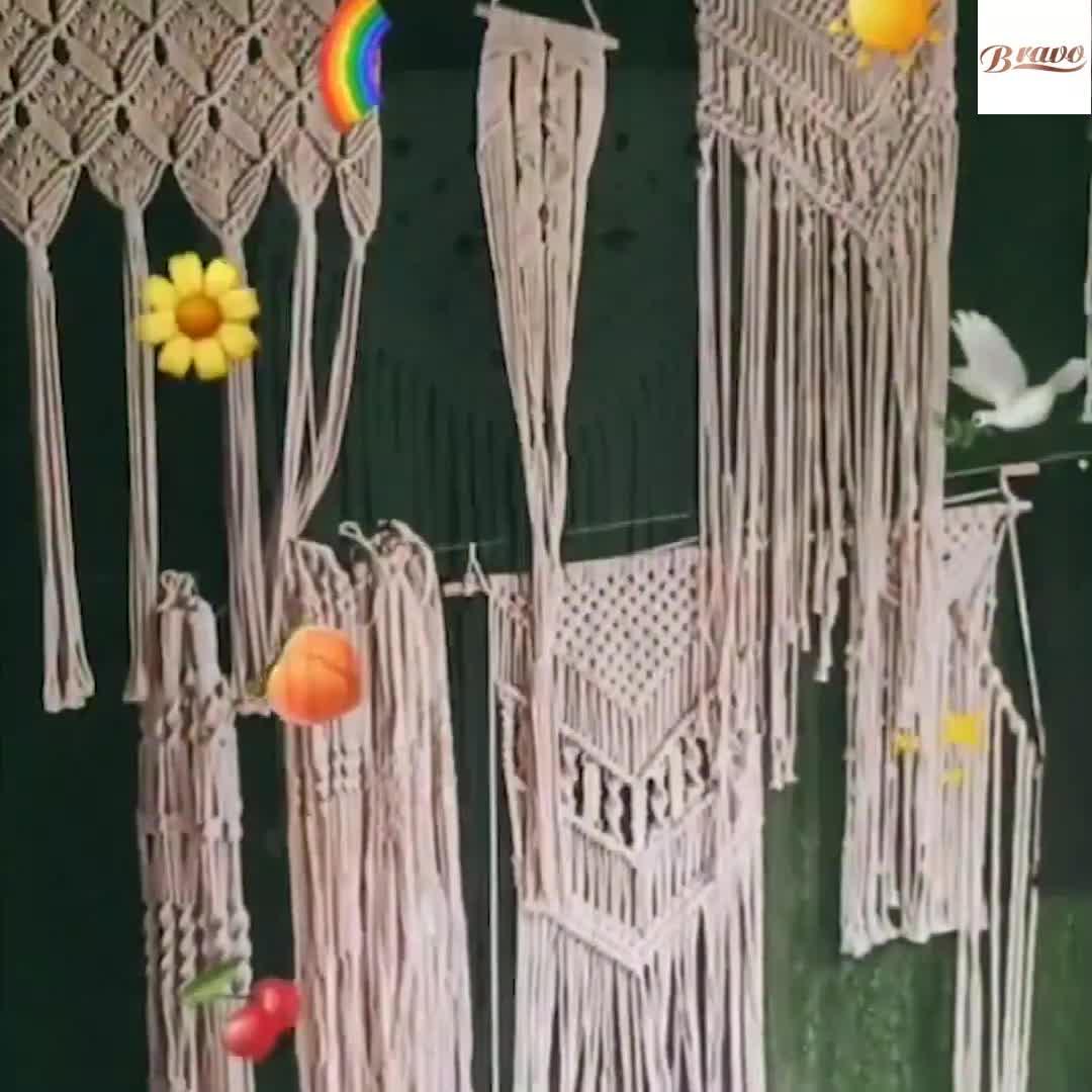 自由奔放に生きる綿織家の装飾マクラメランプシェードライトランプ