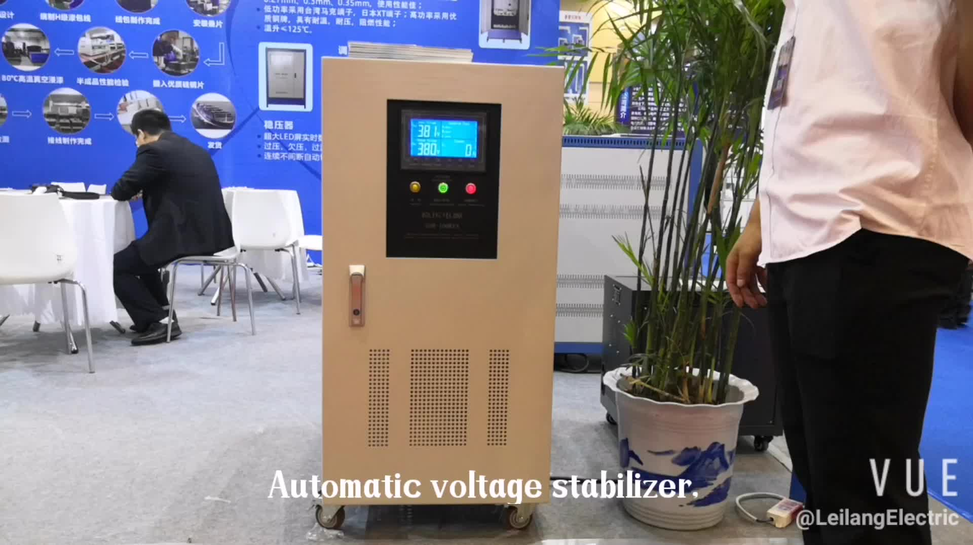 120KVA Three phase automatic voltage stabilizer with servo motor