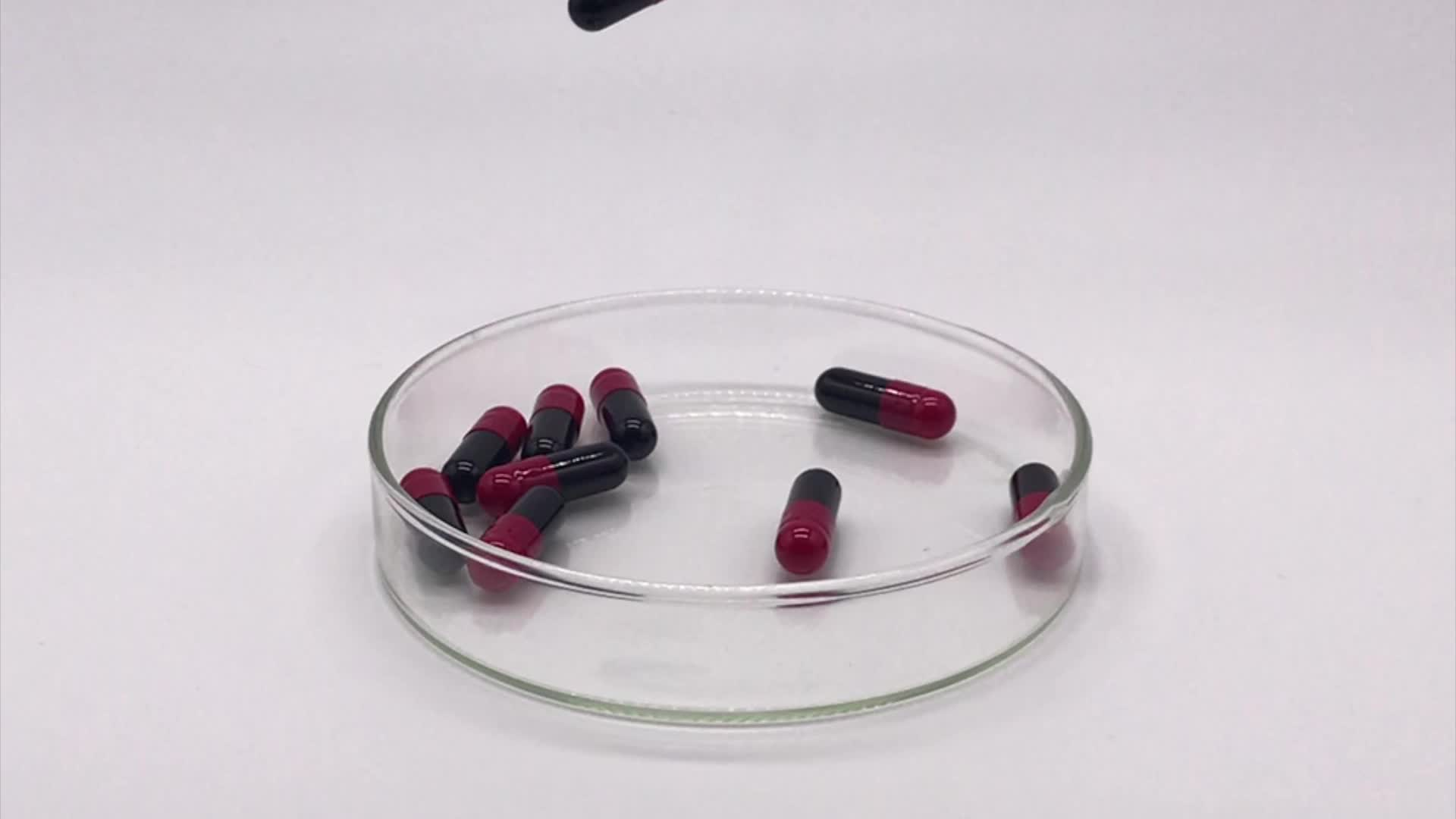 All szie empty gelatin capsules health empty capsule  black and red for medicine