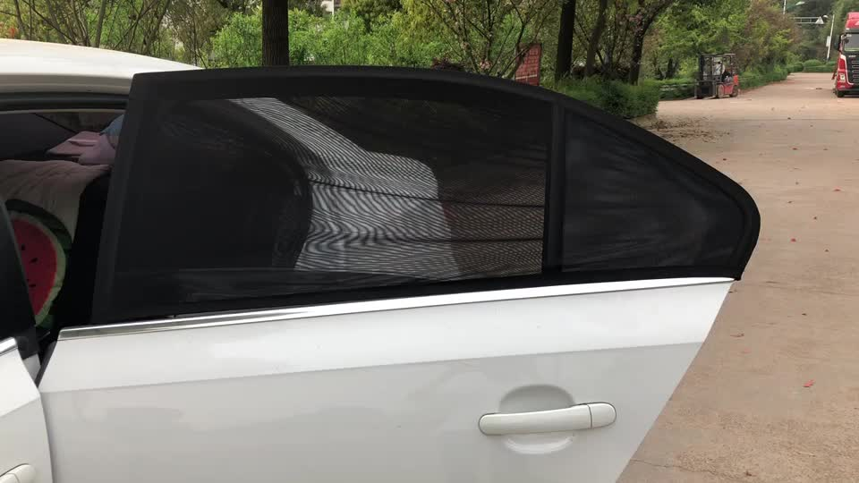 Universal Fit Baby Car Sunshade Side Window Mesh Cover Breathable SunShade For Car Window Pack of 2