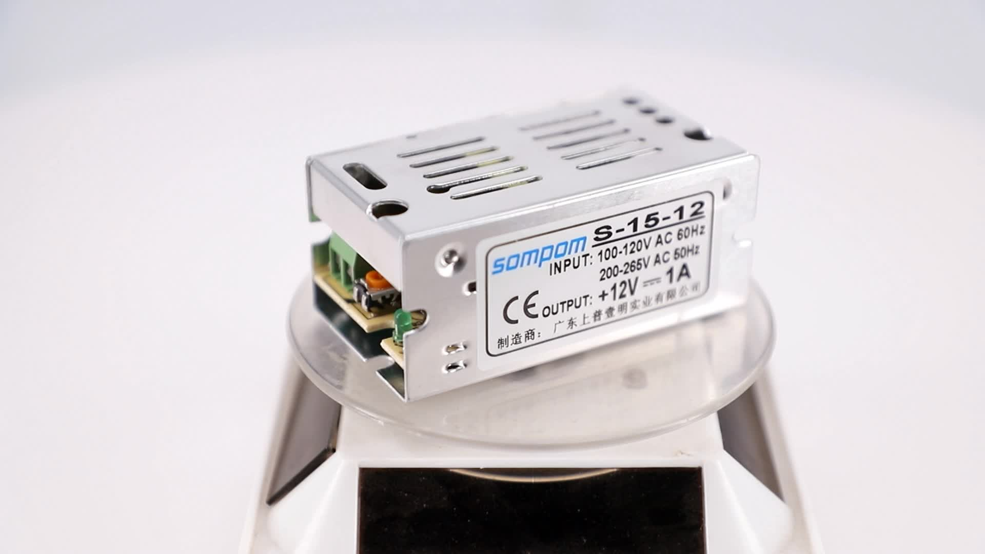 CE ROHS Approved Open Frame 12v 1a DC Switch Power LED Transformer