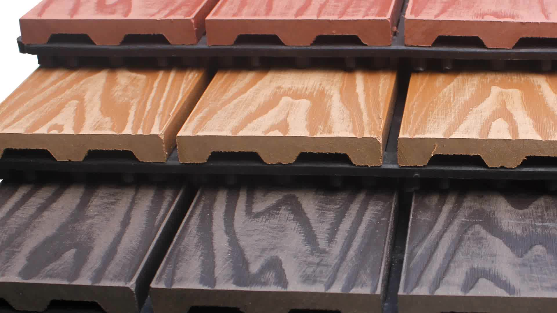 Azulejo de cubierta exterior resistente al agua entrelazado 300*300mm DIY wpc azulejos 3D en relieve