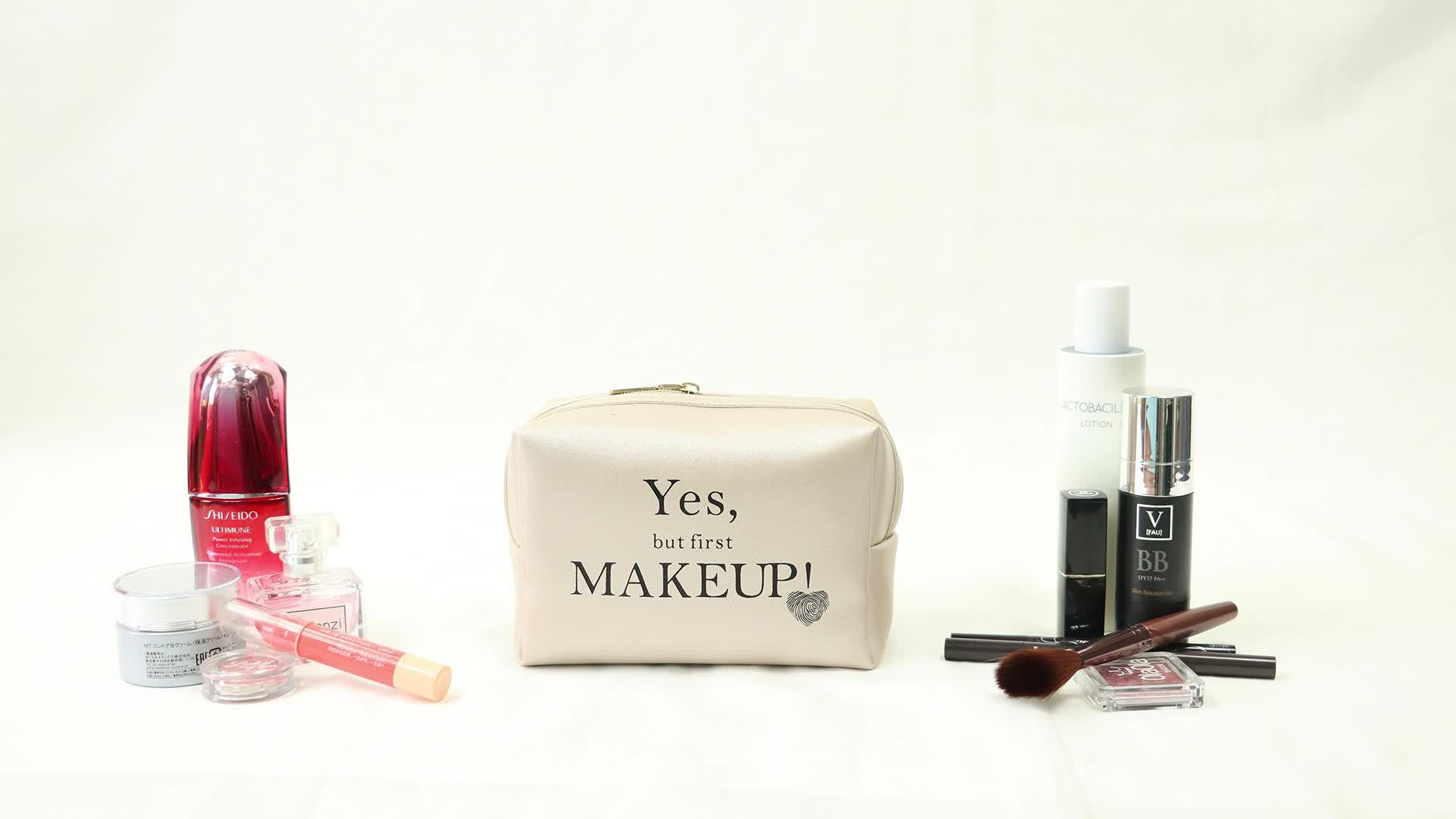 Large capacity Wedding Gift Idea luxury makeup bag cosmetic bag makeup pu makeup bag