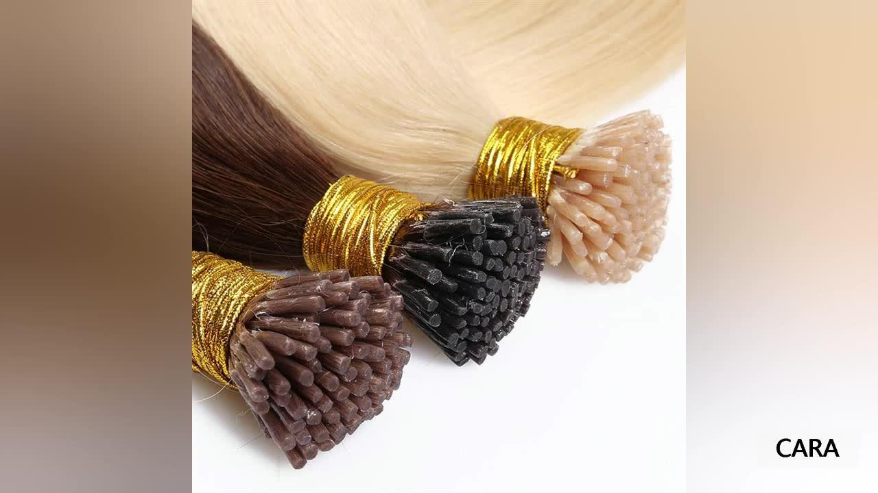 9A 100% 인간의 머리 표피 정렬 머리 확장 팁 헤어 확장