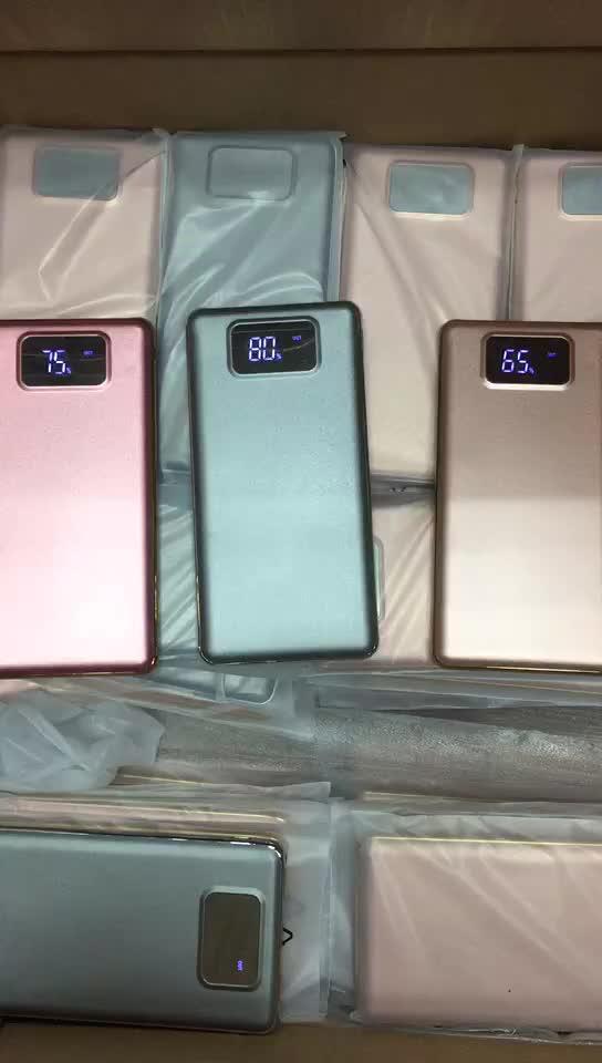 Mini display a led dello schermo batteria ai polimeri di 10000 mah banca di potere intelligente