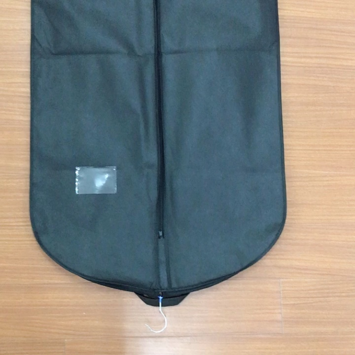 factory price NO MOQ garment bag with pockets,customized suit bag wedding dress bag