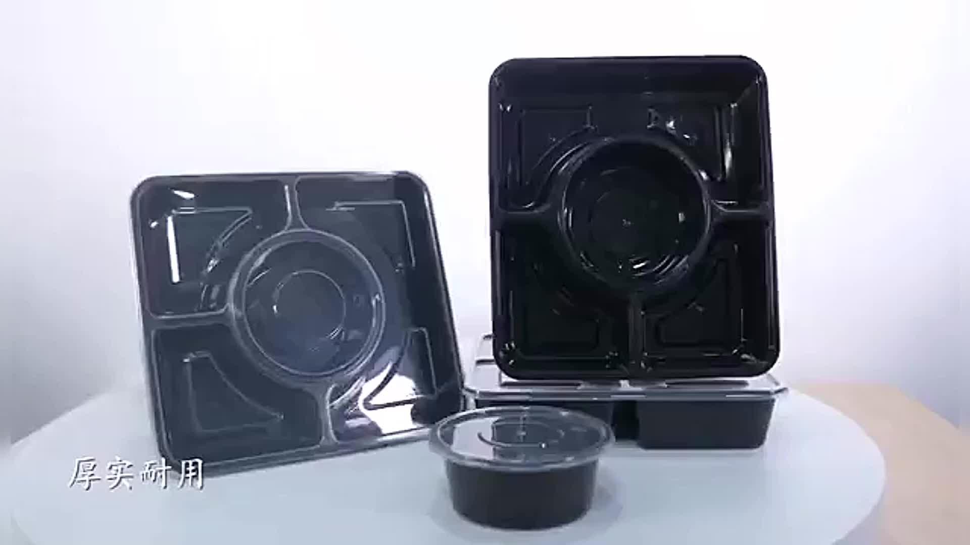 Caixa de Take-out compartimento recipiente de alimento descartável de plástico transparente para o restaurante