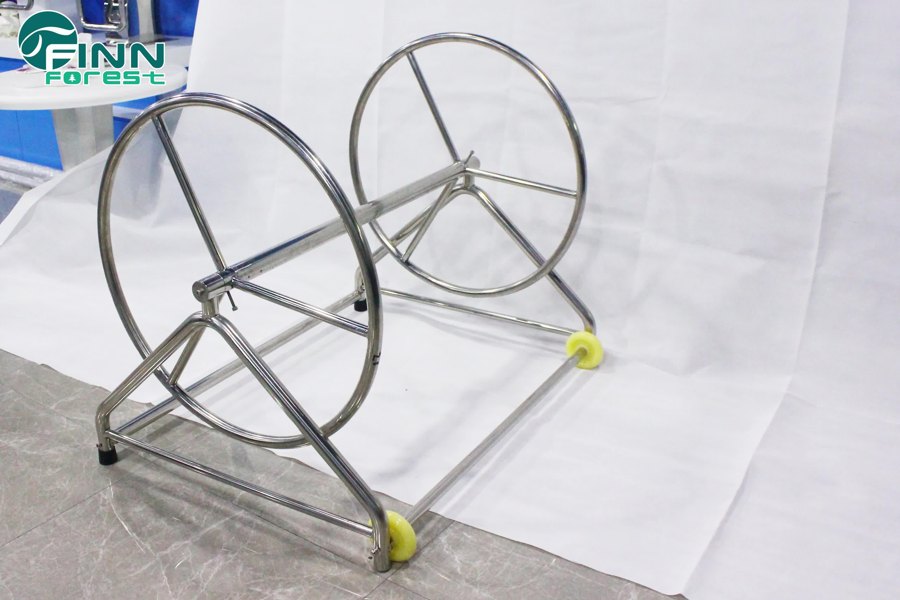 304 Stainless Steel Demountable Swimming Pool Divider Lane Roller With Reel