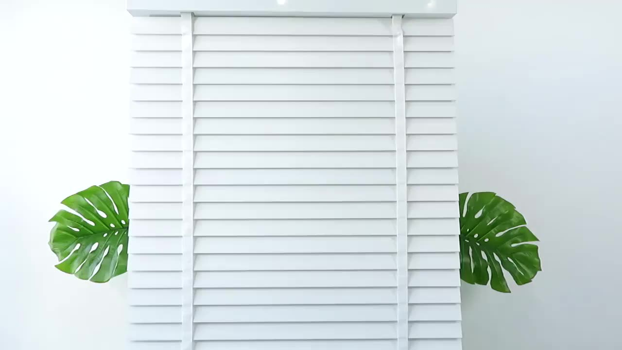 Free samples easy clean sunshades 2 inch white mini electric faux wood venetian blinds