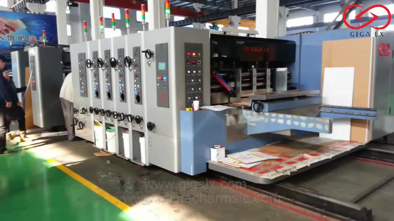 LX-308 Fully Automatic Flexo Printing Machine With Slotting And Die-Cutting Machine Machine Packaging Automatic For Sale