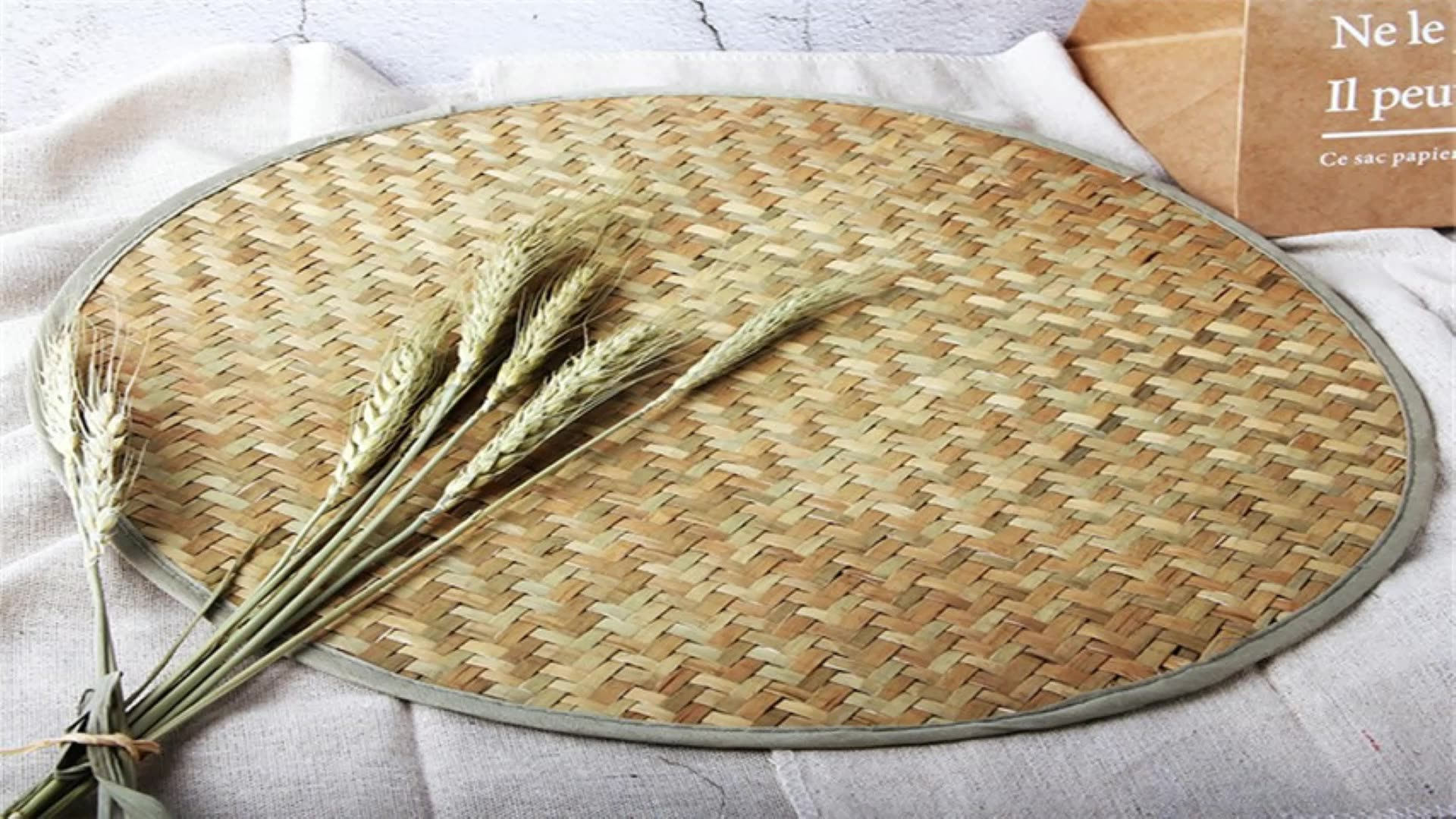 pack of 6 natural hand woven round seagrass placemat for dining table and kitchen table mat