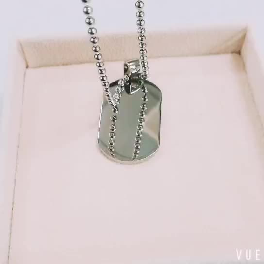 Wholesale Fashion Professional Blank Stainless Steel Pendant Dog Tags Pendant With Military Stainless Steel