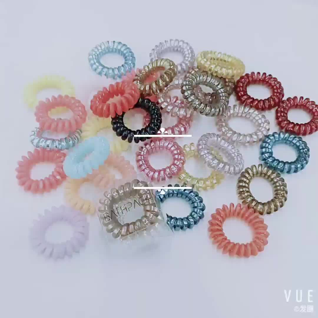 Hair Bands Elastic Hair Rings Plastic Stretchy Bobbles Tie Hair Band