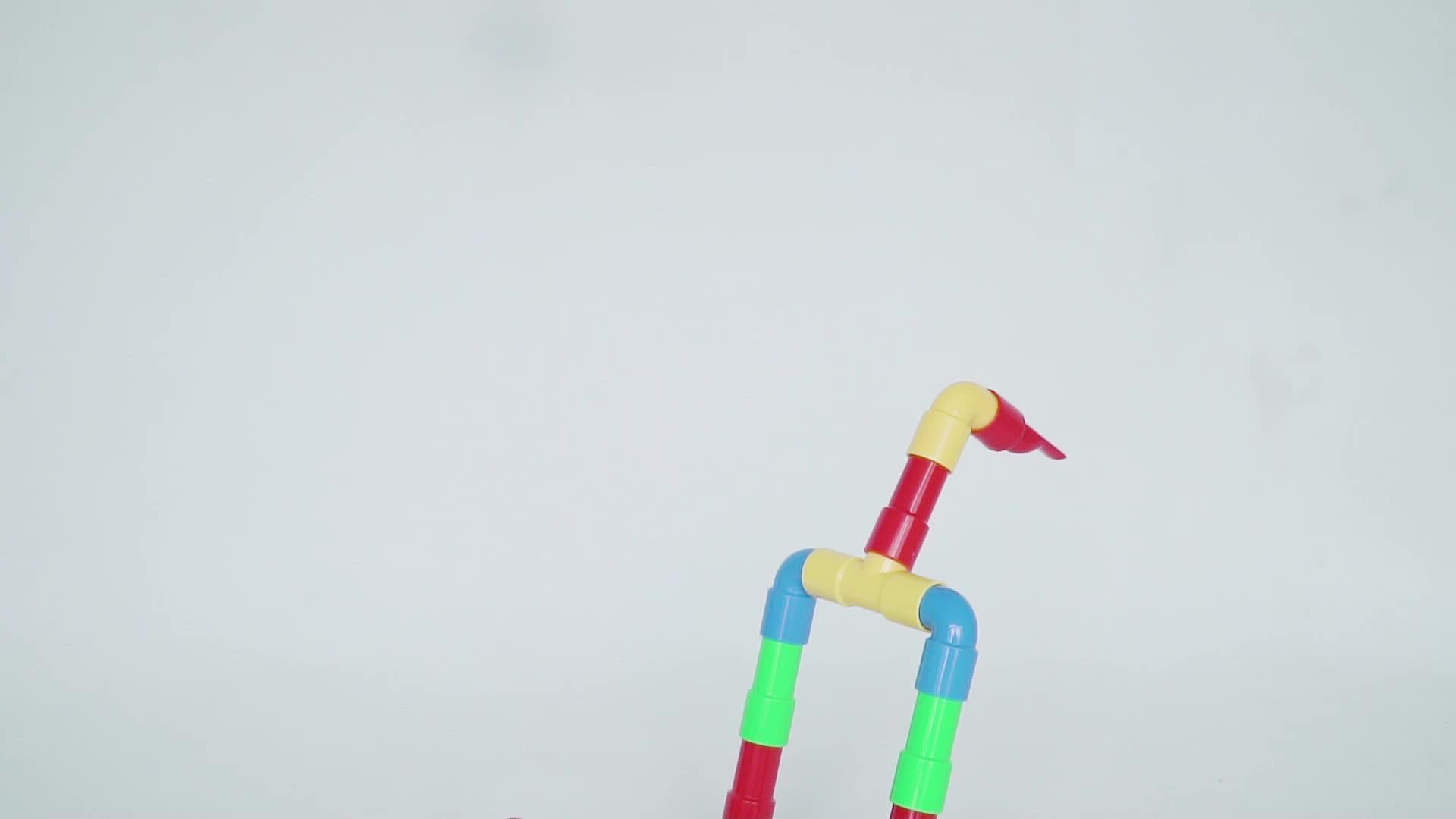 Thời trang Nhựa xây dựng các khối học tập sớm mẫu giáo chèn ống lắp ráp đồ chơi, funny phổ biến khối xây dựng từ